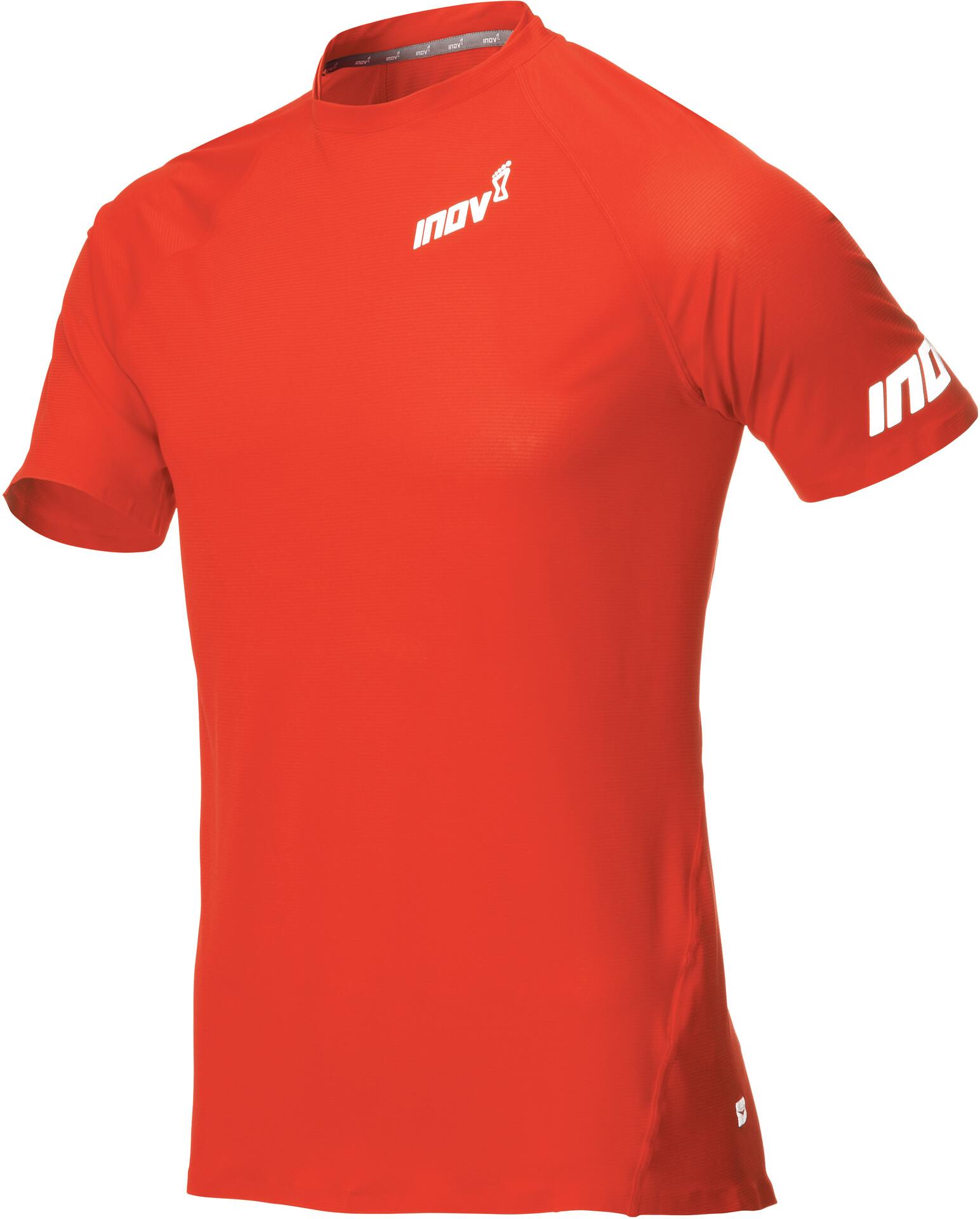 inov 8 Base Elite Camiseta Manga Corta Hombre, red | Campz.es